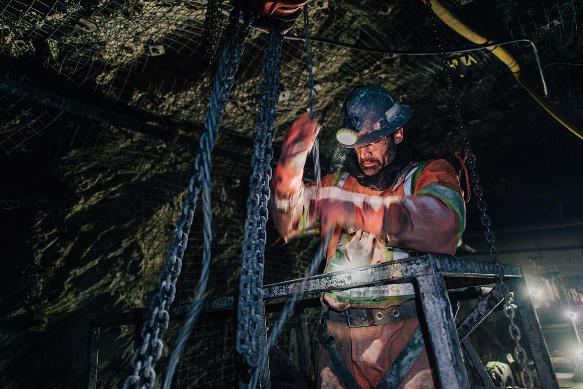 Travailleur mineur - CMAC-Thyssen groupe minier